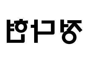 KPOP RCPC(로켓펀치、ロケットパンチ) 다현 (チョン・ダヒョン, ダヒョン) 応援ボード、うちわ無料型紙、応援グッズ 左右反転